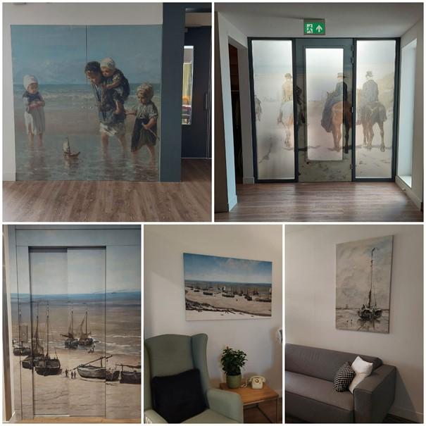 Collage kunstwerken